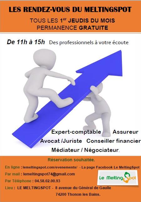 Affiche rendez-vous gratuits assureur comptable et avocat