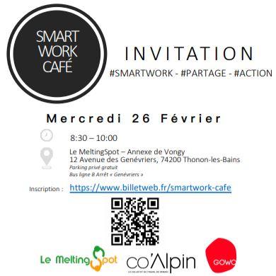 Smartwork Café 26/02/2020 sur le coworking